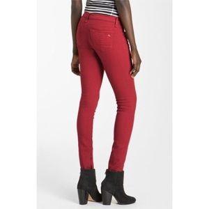 Rag & Bone • Red Skinny Zipper Jeans